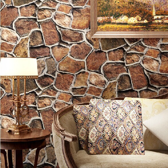 Beibehang Modern 3D Wall Paper For Walls 3 D Stone Brick Design Background Wallpaper Roll