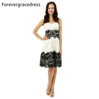 Forevergracedress A Line Cocktail Dress Sexy Sleeveless Knee Length Backless Short Evening Party Gown Plus Size Custom Made