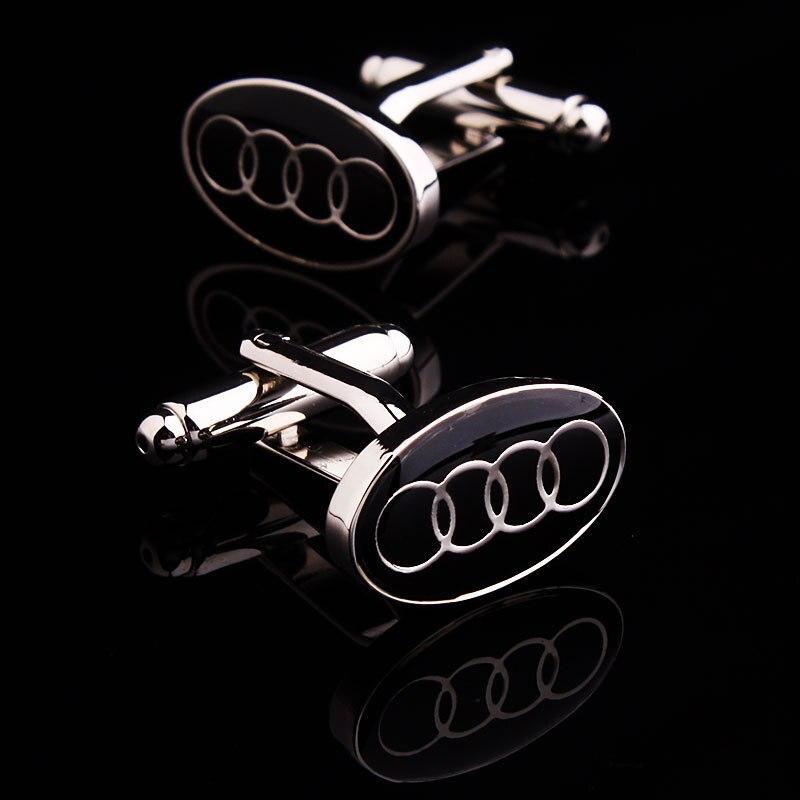 C-MAN Luxury shirt Black car logo cufflink for mens Brand cuff buttons cuff links High Quality abotoaduras Jewelry