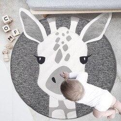 Spielen Matte Runde Lion Kaninchen Einhorn Koala Spielmatten Spiel Pad Kind Krabbeln Decke Kinderzimmer Teppich Teppiche Baby Aktivität Turnhalle matte