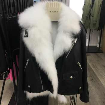 winter clothing natural sheepskin women's coats genuine leather jacket parka with real fur fox lining vest short femme black out - DISCOUNT ITEM  54 OFF Women\'s Clothing