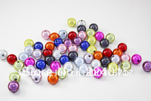 Freeshipping!100pcs/16mm Colored Round  Green Acrylic Beads Jewelry For & Necklace Findings
