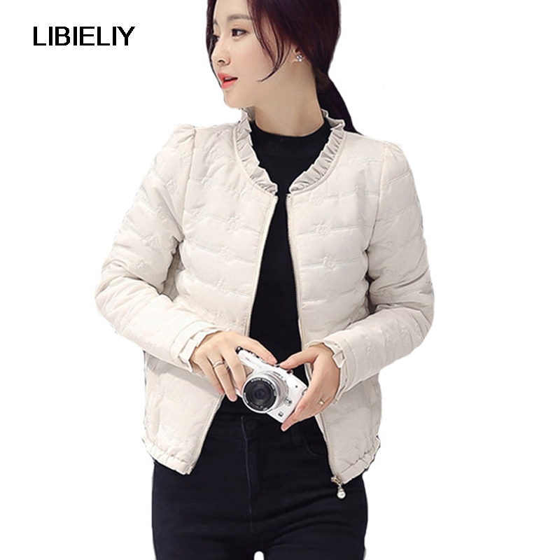 Nice Winter Women   Basic     Jacket   Zipper Female Coat Autumn Spring Ladies Outerwear Short Girls Cotton Padded Jaqueta Feminina
