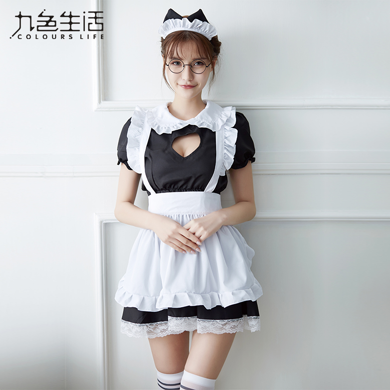 2019 New arrive <font><b>Sexy</b></font> Sweet Lolita Dress Maid <font><b>Costume</b></font> <font><b>Anime</b></font> Cosplay Maid Uniform Plus <font><b>Halloween</b></font> <font><b>Costumes</b></font> For Women NY0300 image