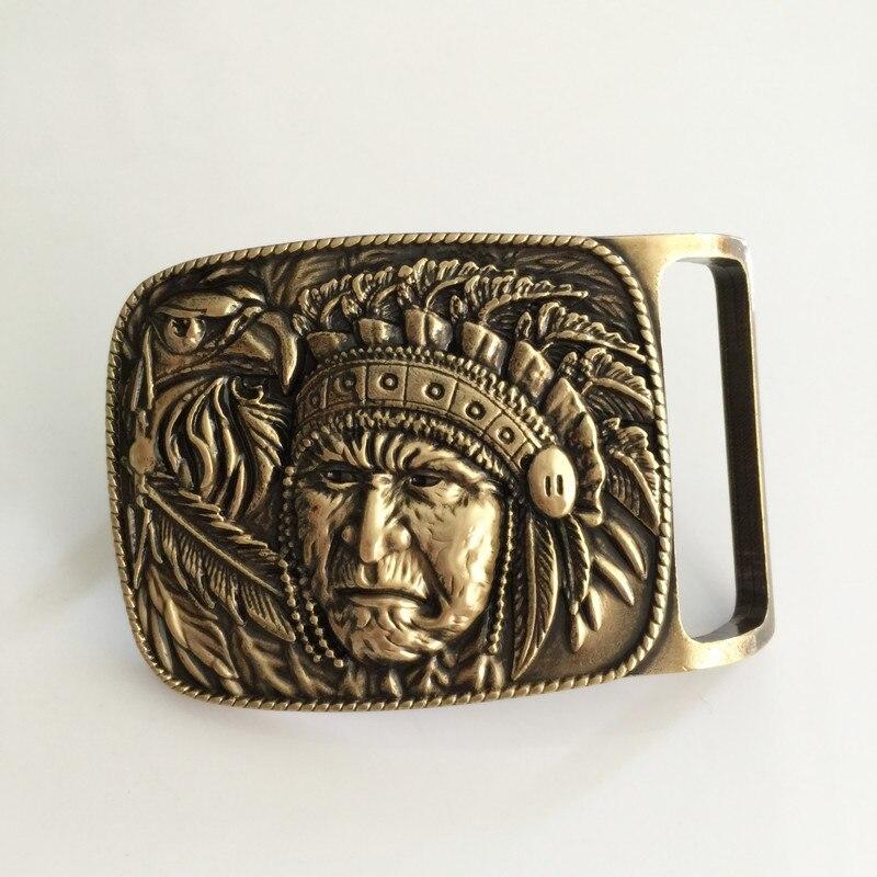 1426f2a1b86d Détail Western cowboy Indien boucles de ceinture fit 4 cm Large Ceinture  7.2 5 cm 126.8g En Laiton En Métal Classique des femmes des hommes Jeans ...