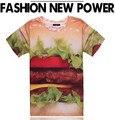 Hamburger T Shirt Men & Women Harajuku 2017 Summer New Fashion 3D Print Funny Tee Shirt Free Shipping