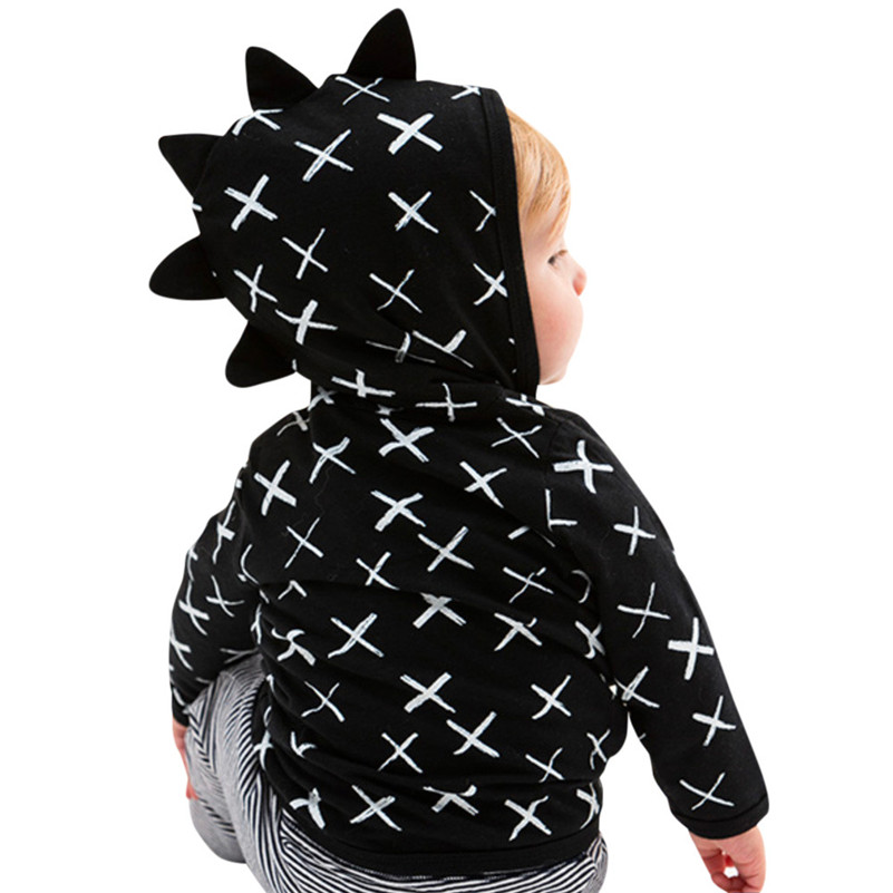 Winter 2018 kinder kleidung newstyle Kleinkind Baby Jungen Mädchen Dinosaurier Muster Zipper Jacke Mantel Oberbekleidung Clothess für baby QC3