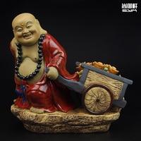 Shiwan Doll Boutique Master Recruit Maitreya Buddha Ceramic Crafts Decoration Decoration Property Living Room Feng Shui