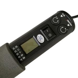Image 4 - Pistola de aire caliente electrónica ajustable LCD, 220V, 450W, 450 grados, 8018LCD, estación de soldadura + soldador eléctrico