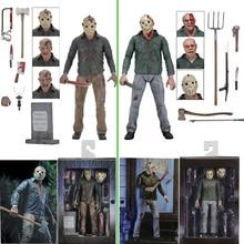 NECA 3D пятница 13 я часть 3 финальная глава Джейсон вурхес ПВХ экшн фигурка Модель Кукла 18 см