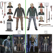NECA 3D Friday The 13th Deel 3 Het Laatste Hoofdstuk Jason Voorhees PVC Action Figure Model Pop 18cm(China)
