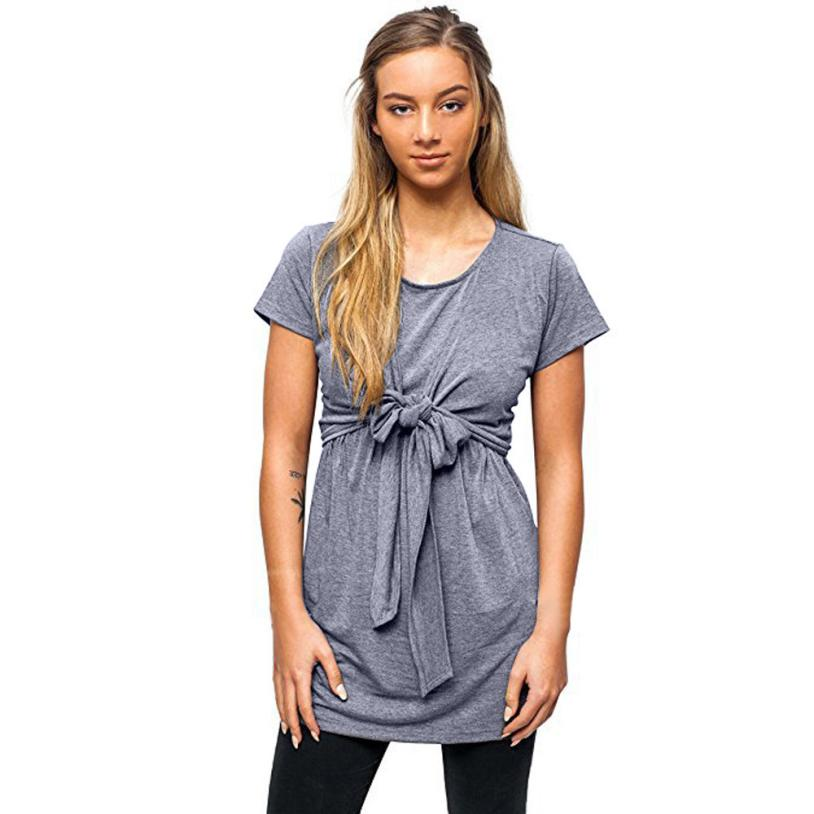feitong 2018 New Spring Summer Women Maternity Nursing Breastfeeding Pregnant Casual Comfortable Blouse Tops Clothes