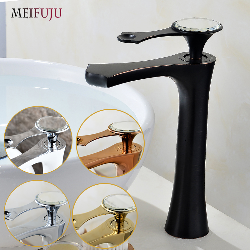 MEIFUJU Black Brass Basin Faucet chrome Single Handle Basin Mixer Tap Hot And Cold Bathroom Faucet Sink Bathroom Tap Mixers ax shape waterfall basin faucet dual handle brass chrome bathroom mixes deck mount hot and cold tap