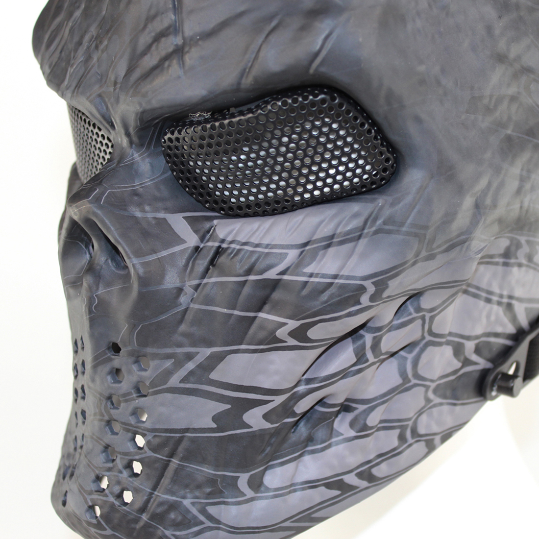 Surwish Iron Blood Skull Mask Tactical Mask for Nerf/for Airsoft/ for Wargame Halloween Dancing Party цена