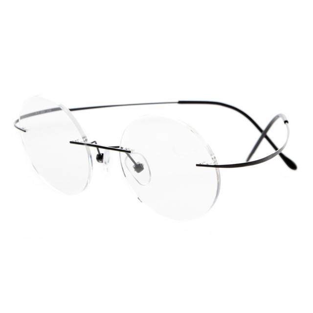 0fdf22423610 Steve Jobs Star Style Ultra-light Memory Titanium Rimless Myopia Eyeglasses  Optical Glasses Frame Men