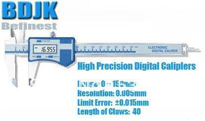 0 ~ 150 мм Высокоточный Цифровой Штангенциркули, электронный Штангенциркуль Средств измерения/Инструмент с 0.015 мм Предел Погрешности