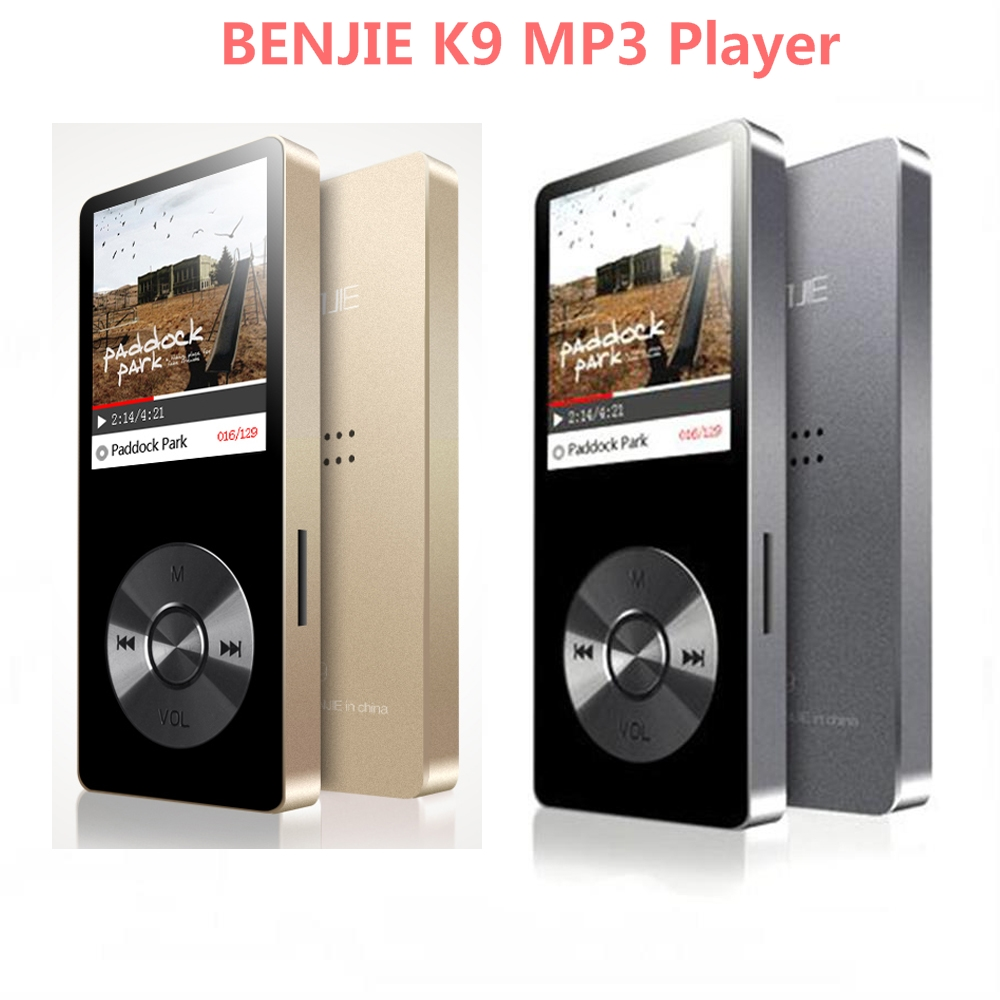Altoparlante in lega Sport MP3 Music Player 8 GB Schermo da 1,8 pollici Originale Benjie K9 Alta qualità Lossless HiFi Registratore vocale Radio FM