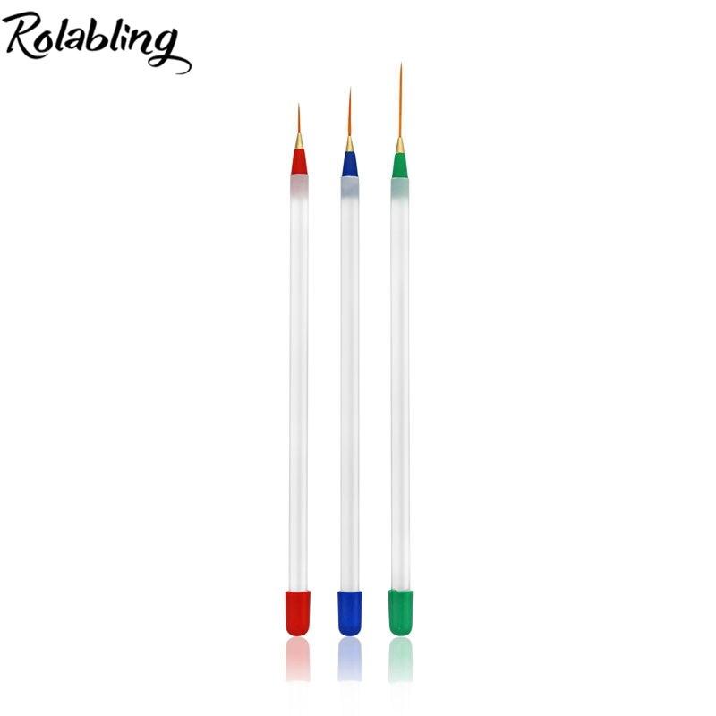 Professional 20packs Set Acrylic Nail Art Builder Brush Tips Liner Drawing Pen