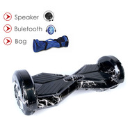 Hoverboard 8 Inch Bluetooth 2 Wheel LED Skateboard Self Balancing Electric Scooter Overboard Gyroscooter 700W 36V