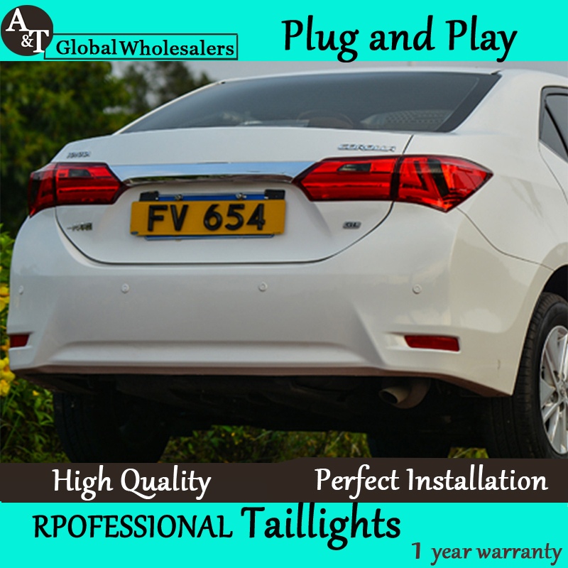 A&T Car Styling for 2014 Corolla Taillights New Corolla Altis LED Tail Light Altis Rear Lamp DRL+Brake+Park+Signal union car styling for 2014 corolla taillights new corolla altis led tail lamp altis rear lamp drl brake park signal led light