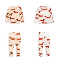 KIKIKIDS Boys Girls Kids Cute Pattern Long Sleeve KNITED CLOUDS 2pcs Set Pajamas SETS Chidlren Clothing