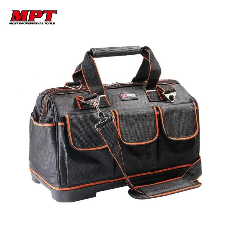 Hard Bottom Tool Bag Belt Electrician Hardware Repair Portable Toolbox Storage Organizers Box Work Spanner Kitbag Big Toolkit