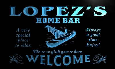 x1032-tm Lopezs Home Bar Hideaway Custom Personalized Name Neon Sign Wholesale Dropshipping On/Off Switch 7 Colors DHL