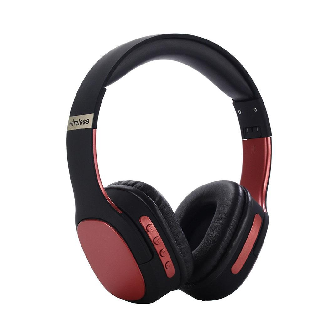 Stereo Wireless Headphones Bluetooth Headset Foldable Headphone Adjustable Earphones With Microphone For PC Mobile Phone Mp3