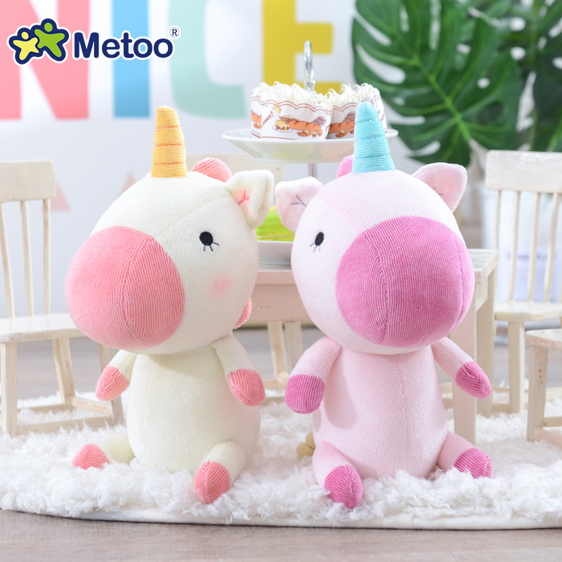 Metoo Doll Kawaii Stuffed Plush Animals Cartoon Kids Toys for Girls Children Baby Birthday Christmas Gift Rainbow Horse цена