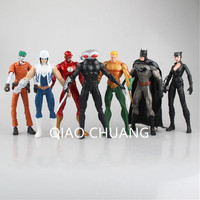 7 Pcs/set Avengers:Infinity War SUPER HERO Universe Batman The Joker Catwoman Wolverine Iron Man Black Manta Action Figure J48