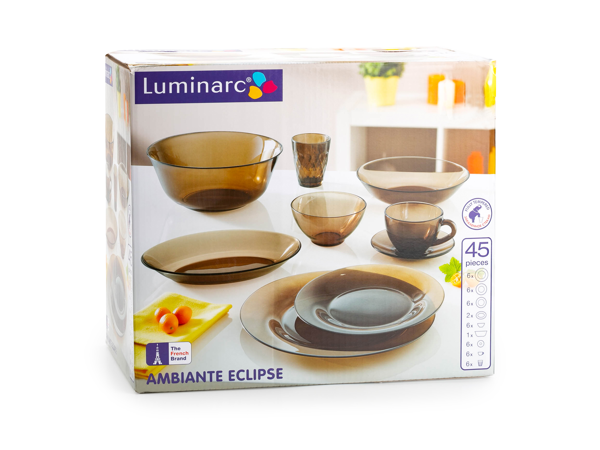 Столовый сервиз Luminarc Ambiante Eclipse 45 предметов eclipse мini 45
