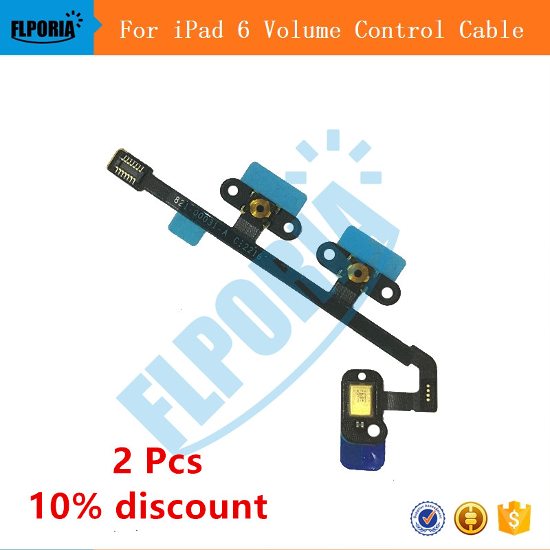 For iPad 6 Volume Control Button Flex Cable Ribbon Replacement Parts For iPad Air 2 For  ...