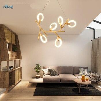 Amerikanischen Kreative Molekulare Anhänger Lichter für Wohnzimmer  Schlafzimmer Studie Büro Bar moderne leuchten Loft Holz hängen Lampe