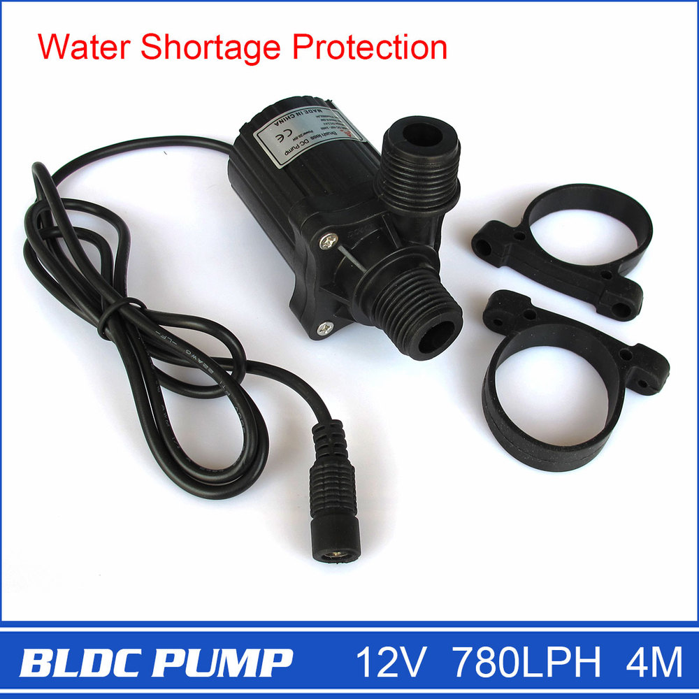 Brand New 12V Micro Pump with DC Plug, Strong 780LPH 4M, Black, 230g, Electric Power, Drop Shipping and Free Shipping!