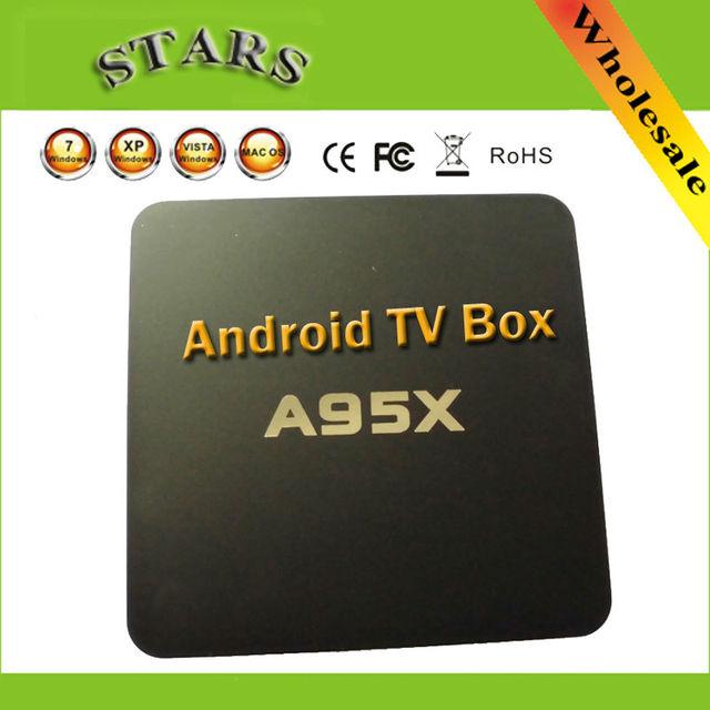 5.1.1 nsendato nexbox a95x android tv box 1g/8g amlogic s905 quad Cortes básicos WIFI Tv Smart Box Media Player KODI tv cajas
