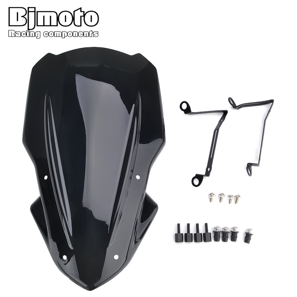 BJMOTO For Kawasaki Z900 2017 2018 Motorcycle Motorbike ABS Wind Deflectors Windshield Windscreen with Bracket Screws
