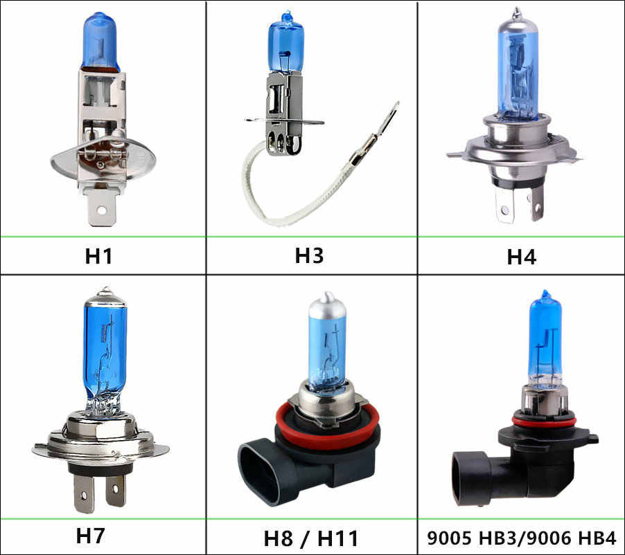 H1 H3 H4 H8 H9 H11 HB3 9005 HB4 9006 12V 55W Halogen Bulbs Car Headlight Lamp 5000K White Auto HeadLamp