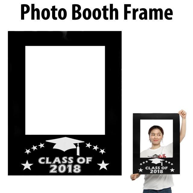 Black Class Of 2018 Graduation Party Props Decoration DIY Photo ...