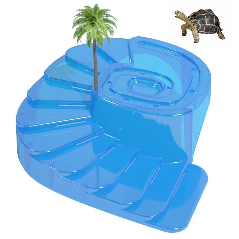 Petacc Высокое качество Черепаха гигантская платформа плавающая черепаха Pier рептилий Хабитат с рампой