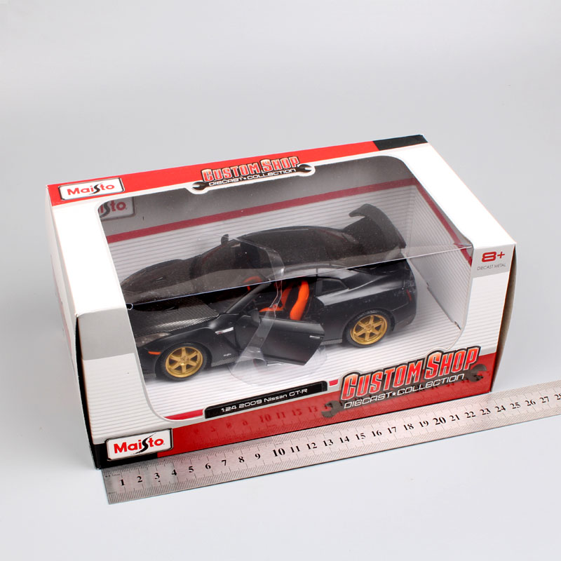 1 24 Scale mini children Nissan GTR 2009 GT R R35 carbon fiber charger metal diecast model racing sport auto cars toys gift boys in Diecasts Toy Vehicles from Toys Hobbies