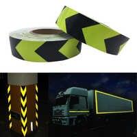 5 cm x 50 mt Fluoreszierende gelb pfeil PET Reflektierende Band Reflektierende Sicherheit Warnband für auto