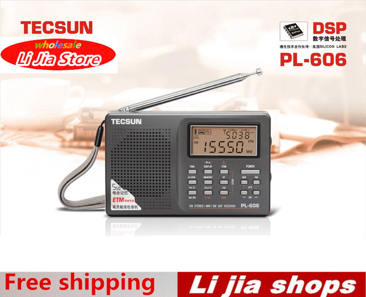 Tecsun PL-606 Digital PLL Portable Radio FM Stereo/LW/SW/MW DSP Receiver Nice 5pcs pocket radio 9k portable dsp fm mw sw receiver emergency radio digital alarm clock automatic search radio station y4408