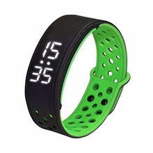 W9 Bluetooth V4.0 шаг счетчик активности на Водонепроницаемый IP67 спортивные Фитнес Трекер Смарт-часы браслет, черный + зеленый