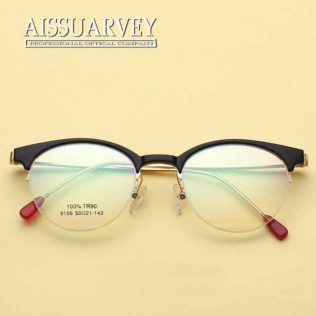 7553661bd6 Online Shop Vintage Eyeglasses Women Optical Eye Glasses Frame Prescription  Round Metal Clear Red Tortoise Black Eyewear Goggles Girl New