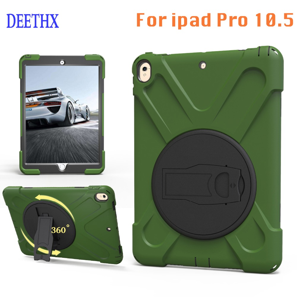 New,Tablet Case For Apple iPad pro 10.5 inch A1701 A1709,DEETHX,Heavy Duty Shockproof Hybrid Rubber Rugged Hard Safe Cover Case tablet case for ipad air 2 a1567 extreme heavy duty shockproof rubber cover with stand hard cover case for ipad pro 9 7 inch