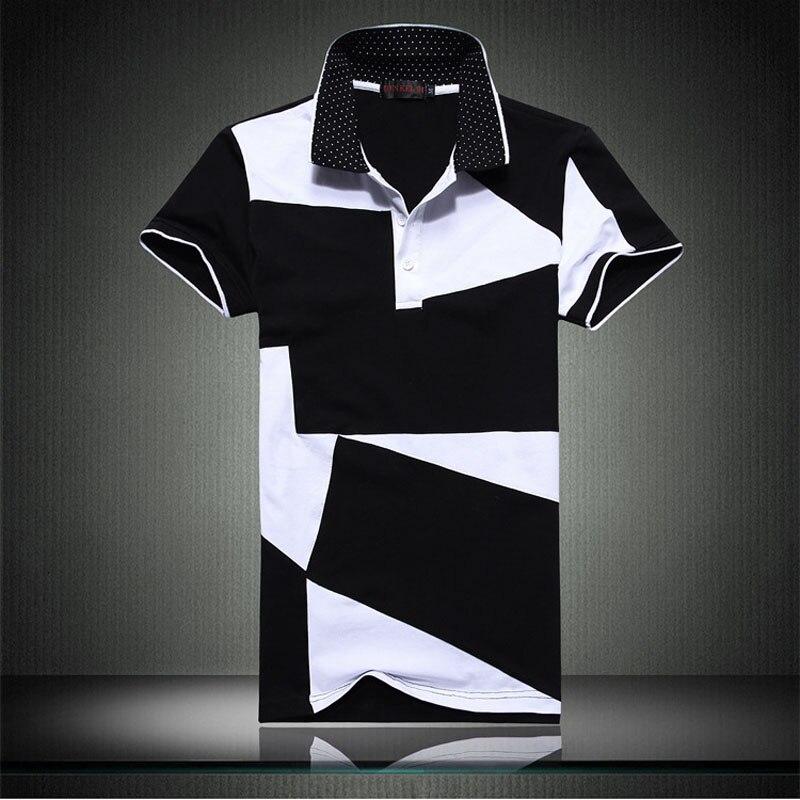 6deaa3e592 Tela geométrica camisa hombres tommis polo delgado culturismo tommys polos  hombre camisa masculina polo homme grandes de gran tamaño 6xl en Polo de La  ropa ...