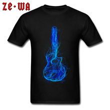 Lightning Electric Guitar 3D Printed T-Shirt Crewneck 100% Cotton Men Tops T Shirt Cool Fashion Tees For Well Chosen