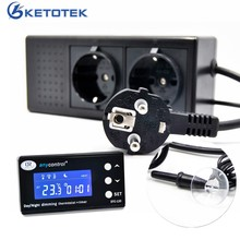 LCD Digital Reptile Dimming Thermostat Temperature Control Outlet PID Heating Cool DTC-120 Day/night Aquarium Thermostat EU Plug