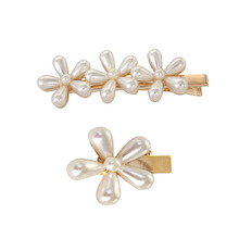 SANSUMMER 2019 Alloy Plating Pearl Simple Everyday Wear Fashionable Personality Lady Temperament Hairpin Gifts For Women 5133
