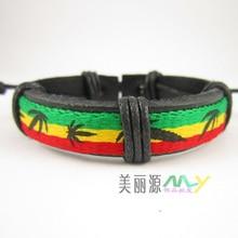 Новое поступление ямайский браслет регги, Боб Марли стиль модный браслет, аксессуары в стиле хип-хоп 20 шт./партия